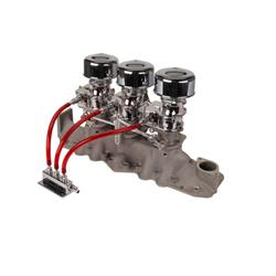 Chrome 9 Super 7® 3x2 Carb/Intake Manifold Kit, 1942-48 Flathead