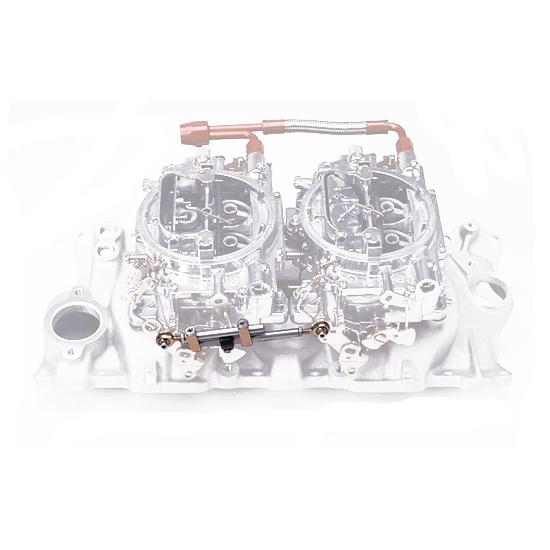 Edelbrock Small Block Chevy Dual Quad Intake/Carburetor