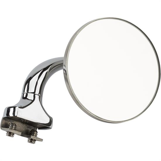 Universal L/R Side Clamp-On Rear View Door Top Peep Mirror, 3 In
