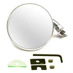 Speedway Universal Reversible Rear-View Door Peep Mirror, 4 Inch