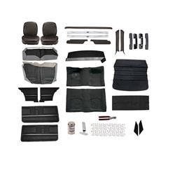 Complete Standard Interior Kit, 1967 Camaro Coupe, Bucket Seats, Black