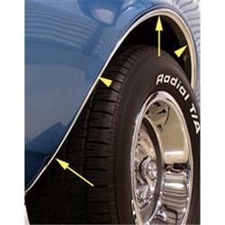 Reproduction Wheelwell Trim Moldings, 1967-68 non RS Camaro, 4-piece kit