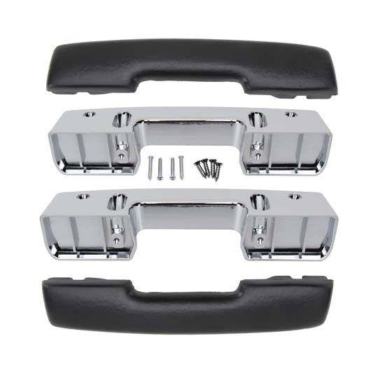 1967 Camaro, 1965-1967 Nova Arm Rest Pad & Base Kit, 4 Piece