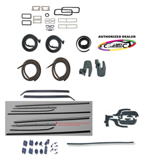 Complete Weather Stripping Kit for 1967 Chevelle 2-Door Hardtop