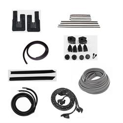 1967 Nova 2 Door Hardtop Weatherstrip Kit, OEM Windowfelts