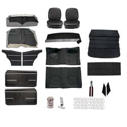 Basic Black Interior Kit, 1968 Camaro Coupe, Bucket Seats