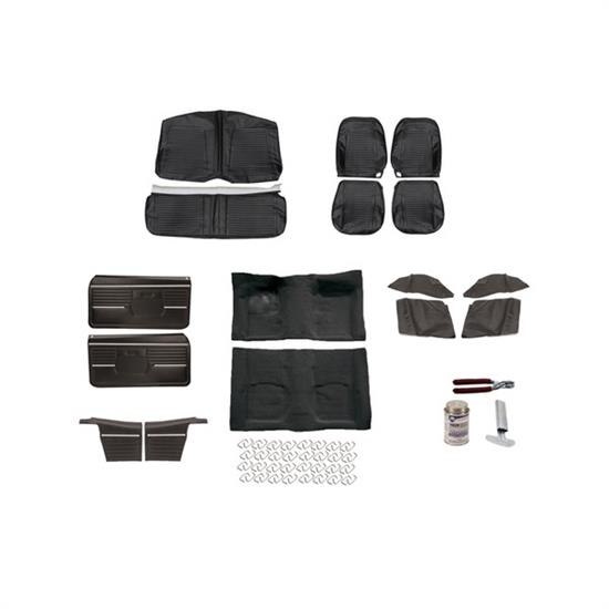 Basic Black Interior Kit, 1968 Camaro Convertible, Bucket Seats