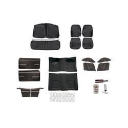 Basic Black Interior Kit, 1968 Camaro Convertible, Bucket Seats