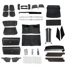 Standard Complete Interior Kit for 1969 Camaro Coupe w/o AC, Black