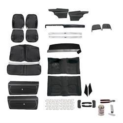 Standard Complete Black Interior Kit, 1969 Camaro Conv. Bucket Seats