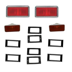 Side Marker Lamp Kit w/o Engine Size, 1969 Nova/Chevelle/El Camino