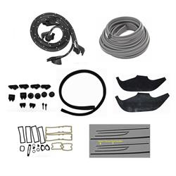 Replacement Windowfelts for 1971-72 Nova 2-Door Weather Stripping Kit
