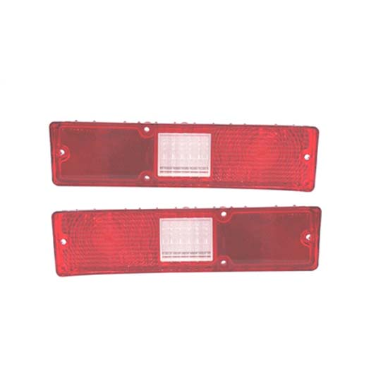 Red Tail Light Lens, RH/LH, 1972 Nova