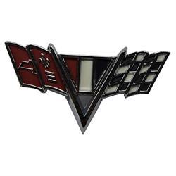 Classic Headquarters W-419 V-Flag Fender Emblem, Camaro/Nova/Chevelle