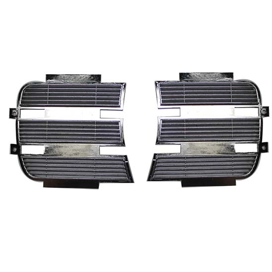 Classic Headquarters W-579 Chrome Headlight Grille Covers, 69 Camaro