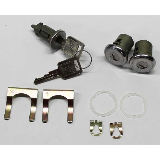 Classic Auto Locks CL-104 Ignition/Door Lock Set w/Key, 1966-72 GM