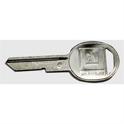 Classic Auto Locks CL-225 Original Round Head Key for Chevelle, Each