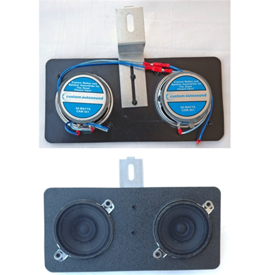 Custom Autosound 2009 Dual Speakers, 80 Watt, 66-67 Nova/Chevelle,Pair
