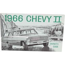 Dave Graham 66-NOM 1966 Nova Owners Manual