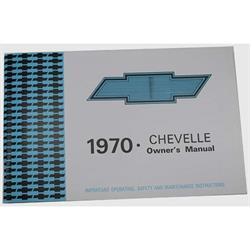 Dave Graham 70-CHOM 1970 Chevelle Owners Manual
