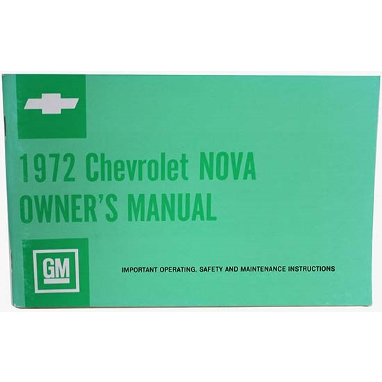 Dave Graham 72-NOM 1972 Nova Owners Manual