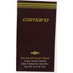 Dave Graham 79-COM 1979 Camaro Owners Manual