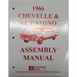 Dave Graham 66-CHFA Factory Assembly Manual, 66 Chevelle/El Camino