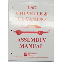 Dave Graham 67-CHFA Factory Assembly Manual, 70 Chevelle/El Camino