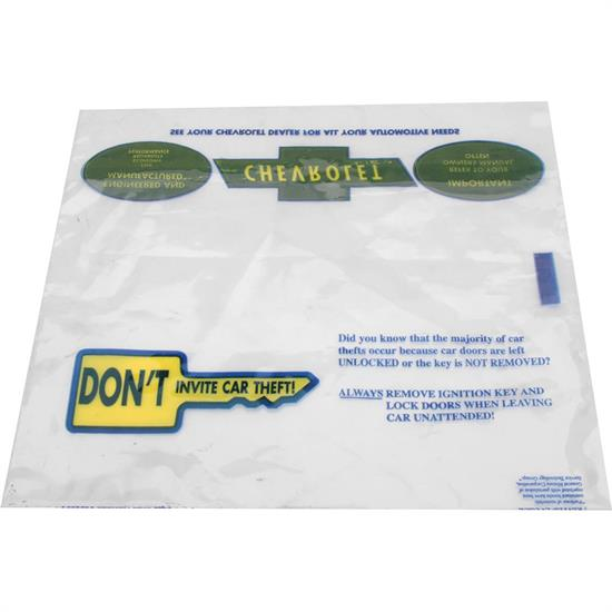 Dave Graham 67-OMB Plastic Sleeve Owners Manual Storage Bag, 67-68 GM