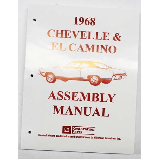 Dave Graham 68-CHFA Factory Assembly Manual, 68 Chevelle/El Camino