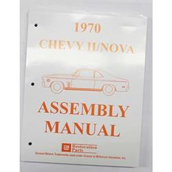 Dave Graham 70-NFA Factory Assembly Manual for 1970 Chevy II/Nova