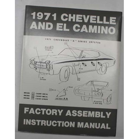 Dave Graham 71-CHFA Factory Assembly Manual, 71 Chevelle/El Camino