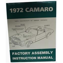 Dave Graham 72-CAFA Factory Assembly Manual for 1972 Camaro