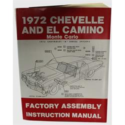Dave Graham 72-CHFA Factory Assembly Manual, 72 Chevelle/El Camino