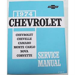 Dave Graham 74-PSM 1974 Chevrolet Service and Shop Manual