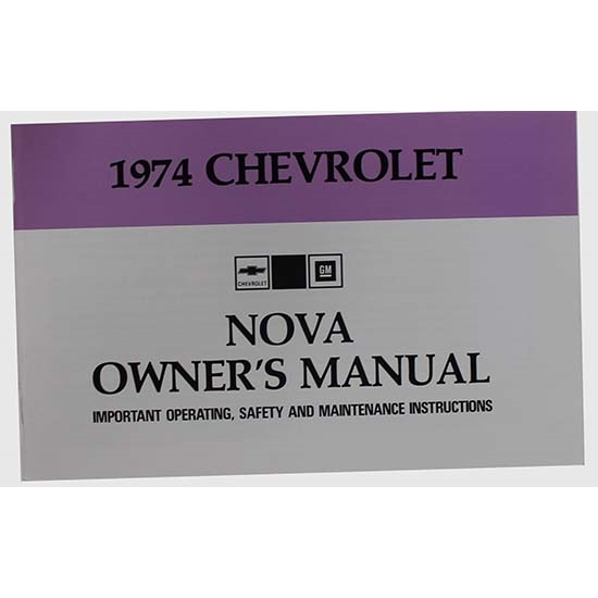 Dave Graham 74-NOM 1974 Nova Owners Manual