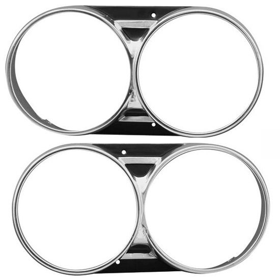Dynacorn M1385 Headlamp Bezels, 1966 Chevelle
