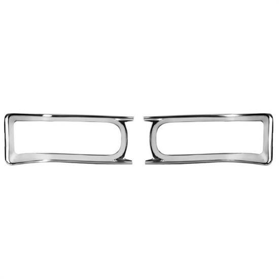 Dynacorn M1381A Tail Light Bezels, Pair, 1966 Chevelle