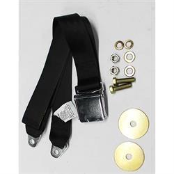 Dynacorn SBL-BK60 60 Inch Vintage Style Seat Belt, Camaro, Black, Each