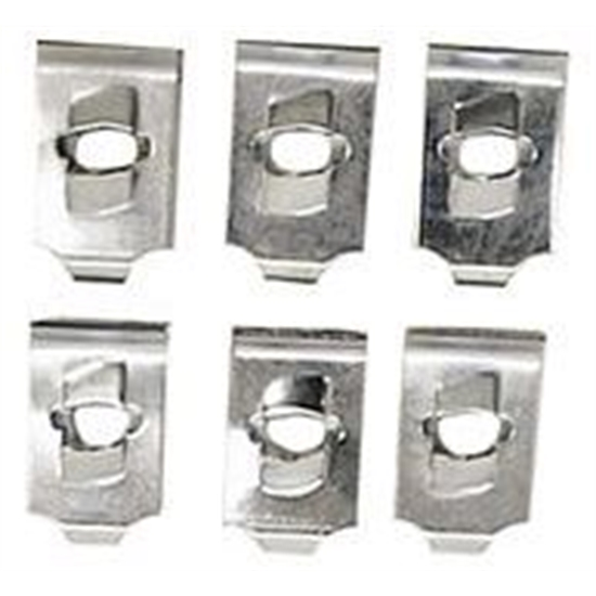 Headlight Bezel Mounting U-Nuts for 1969 Camaro, 6-Piece Set
