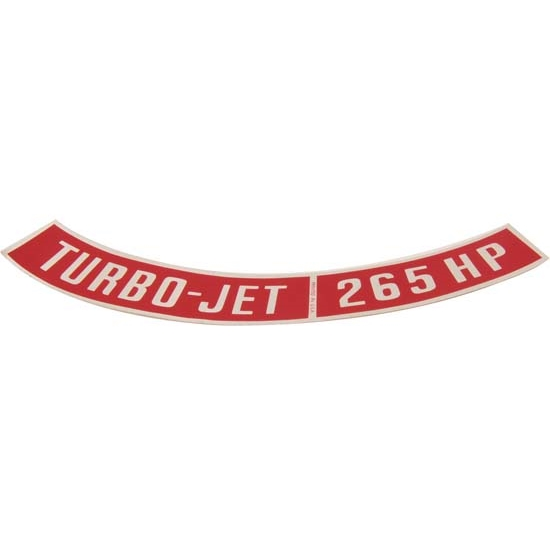 Jim Osborn DC0290 Turbo Jet 265 HP Air Cleaner Decal
