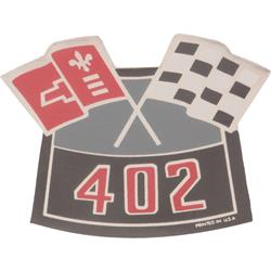 Jim Osborn D00134 Crossed Flags 402 Decal