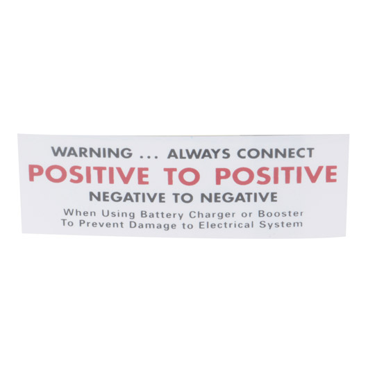 Jim Osborn DC0322 1964-66 Nova Battery Caution Decal