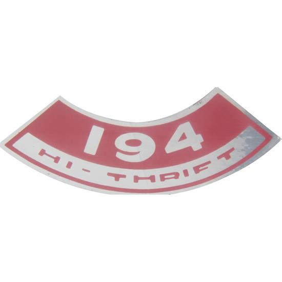 Jim Osborn DC0182 High Thrift 194 Air Cleaner Decal