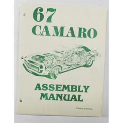 Jim Osborn MP0072 Factory Assembly Instruction Manual, 1967 Camaro