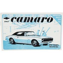 Jim Osborn 1967 Camaro Owners Manual