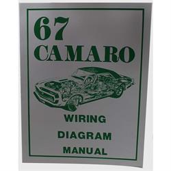 Jim Osborn MP0032 Wiring Diagram Manual, 1967 Camaro