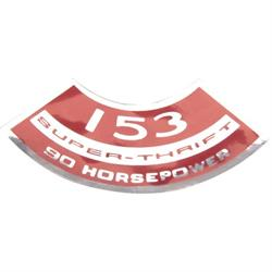 Jim Osborn DC0970 Super Thrift 153 90HP Air Cleaner Decal, 67-70 Nova