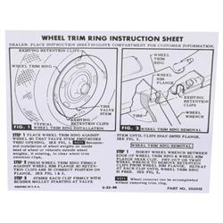Jim Osborn DC0041 1967-74 Camaro Rally Wheel Instructions Decal