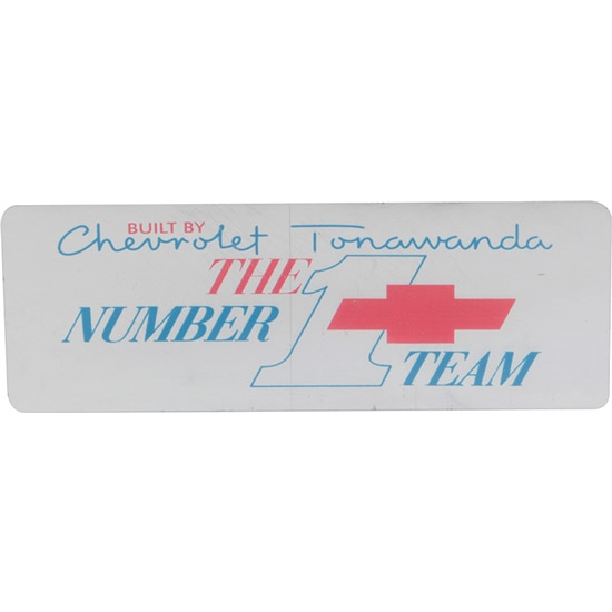 Jim Osborn DC0096 RH Valve Cover Tonawanda Number 1 Team Decal, 67-74